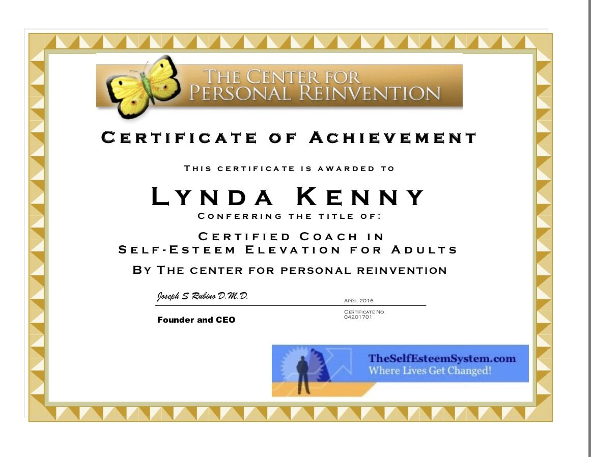 Coaching with lynda lynda kenny online this certificate above verifies that lynda kenny successfully completed the course success coach certificate complete coaching system as taught by womanly xflitez Choice Image
